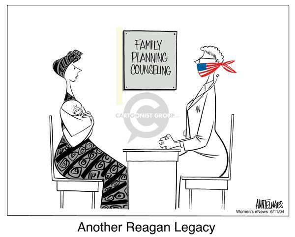Cartoonist Ann Telnaes  Ann Telnaes' Women's  eNews Cartoons 2004-06-11 family