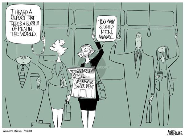 Cartoonist Ann Telnaes  Ann Telnaes' Women's  eNews Cartoons 2004-07-22 California