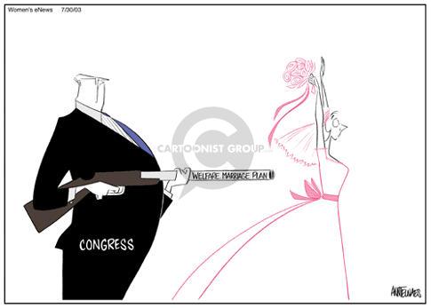 Cartoonist Ann Telnaes  Ann Telnaes' Women's  eNews Cartoons 2003-07-31 family