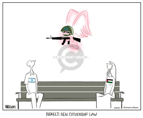 Ann Telnaes  Ann Telnaes' Women's  eNews Cartoons 2003-08-08 rule of law