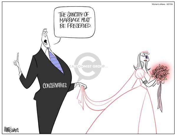 Cartoonist Ann Telnaes  Ann Telnaes' Women's  eNews Cartoons 2004-08-27 homosexuality