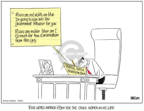 Cartoonist Ann Telnaes  Ann Telnaes' Women's  eNews Cartoons 2003-10-08 privacy