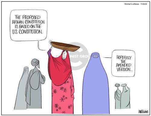Cartoonist Ann Telnaes  Ann Telnaes' Women's  eNews Cartoons 2003-11-06 Constitution