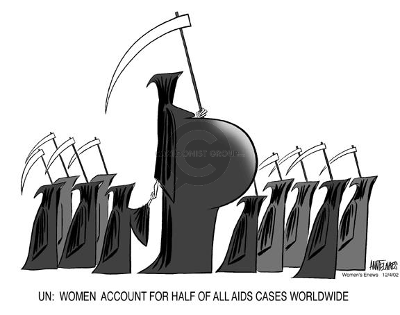 Cartoonist Ann Telnaes  Ann Telnaes' Women's  eNews Cartoons 2002-12-04 global