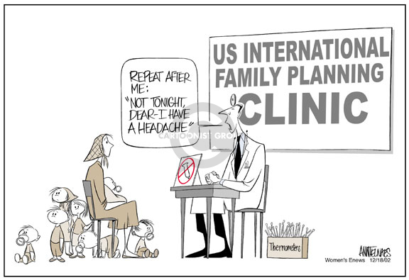 Cartoonist Ann Telnaes  Ann Telnaes' Women's  eNews Cartoons 2002-12-18 reproductive