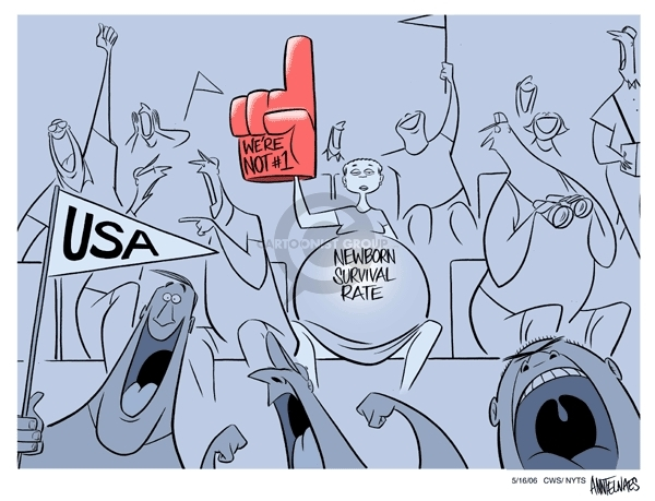 Cartoonist Ann Telnaes  Ann Telnaes' Women's  eNews Cartoons 2006-05-16 health