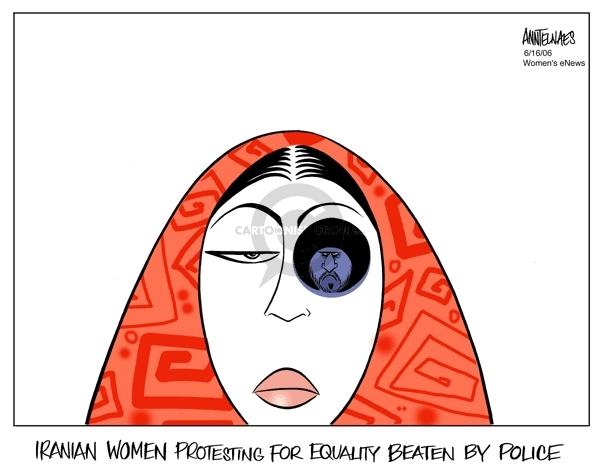 Ann Telnaes  Ann Telnaes' Women's  eNews Cartoons 2006-06-16 human rights
