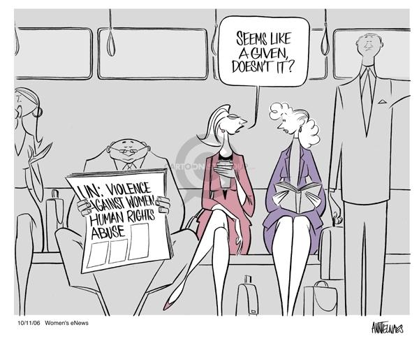 Cartoonist Ann Telnaes  Ann Telnaes' Women's  eNews Cartoons 2006-10-11 civil