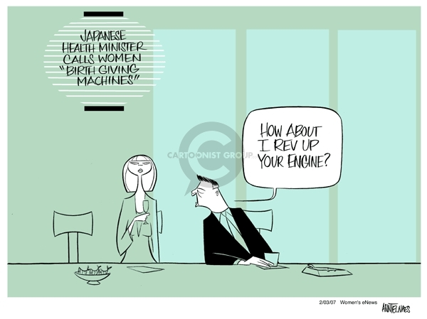 Cartoonist Ann Telnaes  Ann Telnaes' Women's  eNews Cartoons 2007-02-02 rights