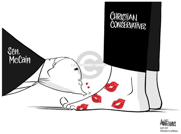 Sen. McCain.  Christian conservatives.