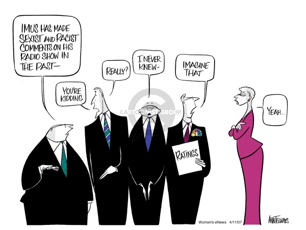 Ann Telnaes  Ann Telnaes' Women's  eNews Cartoons 2007-04-11 racism