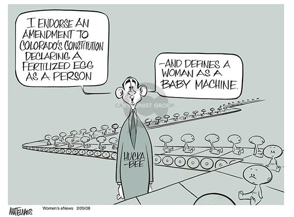 Cartoonist Ann Telnaes  Ann Telnaes' Women's  eNews Cartoons 2008-02-29 Constitution