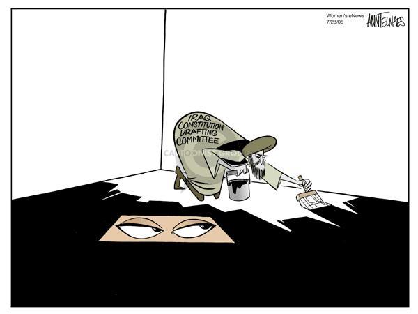 Cartoonist Ann Telnaes  Ann Telnaes' Women's  eNews Cartoons 2005-07-28 federal