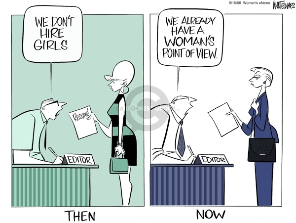 Ann Telnaes  Ann Telnaes' Women's  eNews Cartoons 2006-09-15 equal opportunity