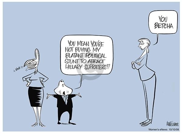 Cartoonist Ann Telnaes  Ann Telnaes' Women's  eNews Cartoons 2008-10-12 presidential