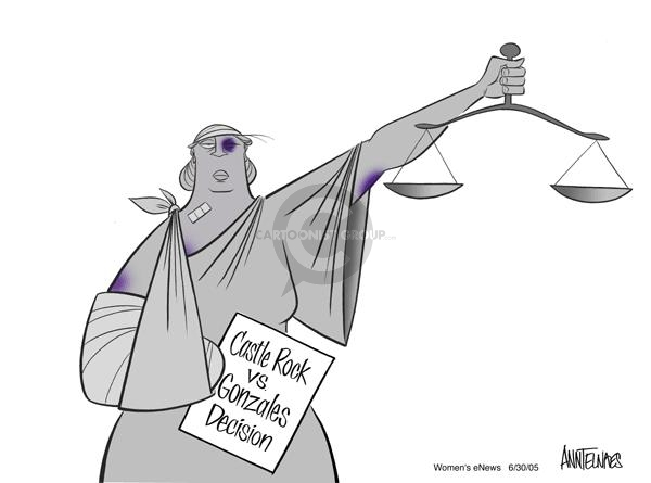 Cartoonist Ann Telnaes  Ann Telnaes' Women's  eNews Cartoons 2005-06-30 supreme court justice