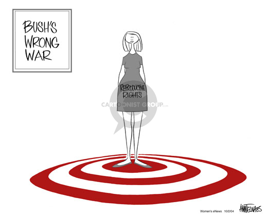 Cartoonist Ann Telnaes  Ann Telnaes' Women's  eNews Cartoons 2004-10-02 civil liberty