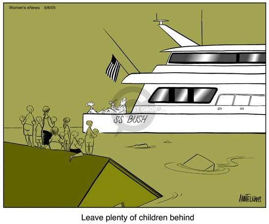 Cartoonist Ann Telnaes  Ann Telnaes' Women's  eNews Cartoons 2005-09-08 federal