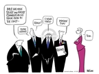 Cartoonist Ann Telnaes  Ann Telnaes' Women's  eNews Cartoons 2007-04-11 know
