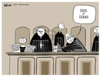 Cartoonist Ann Telnaes  Ann Telnaes' Women's  eNews Cartoons 2007-06-05 supreme court judge