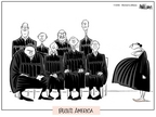 Cartoonist Ann Telnaes  Ann Telnaes' Women's  eNews Cartoons 2005-11-02 supreme court judge