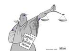 Cartoonist Ann Telnaes  Ann Telnaes' Women's  eNews Cartoons 2005-06-30 justice