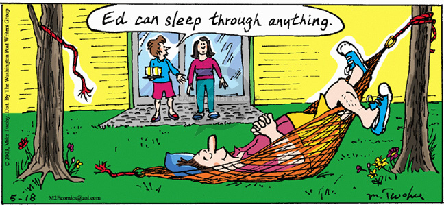Comic Strip Mike Twohy  That's Life 2003-05-18 awake