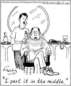 Comic Strip Mike Twohy  That's Life 2002-12-27 hair