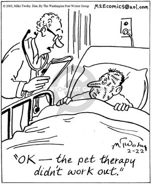 Comic Strip Mike Twohy  That's Life 2003-02-22 animal doctor