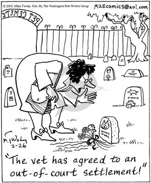 Comic Strip Mike Twohy  That's Life 2003-02-26 cemetery