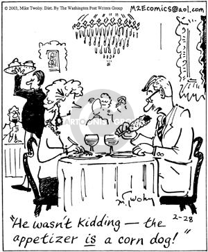 Comic Strip Mike Twohy  That's Life 2003-02-28 food