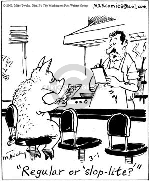 Cartoonist Mike Twohy  That's Life 2003-03-01 cooking