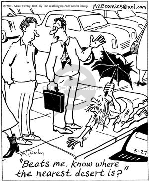 Cartoonist Mike Twohy  That's Life 2003-03-27 life