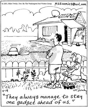 Cartoonist Mike Twohy  That's Life 2003-04-19 manage