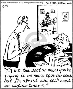 Cartoonist Mike Twohy  That's Life 2003-05-19 patient