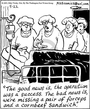 Cartoonist Mike Twohy  That's Life 2003-05-22 patient