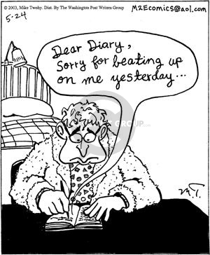 Comic Strip Mike Twohy  That's Life 2003-05-24 Dear Diary