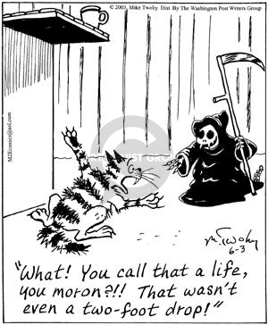 Comic Strip Mike Twohy  That's Life 2003-06-03 cat