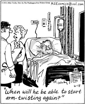 Cartoonist Mike Twohy  That's Life 2003-06-18 patient