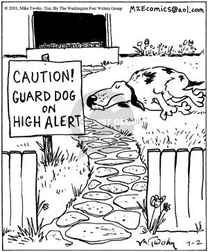 Comic Strip Mike Twohy  That's Life 2003-07-02 guard dog
