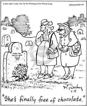 Comic Strip Mike Twohy  That's Life 2003-07-05 cemetery
