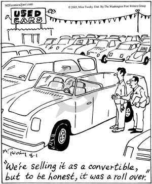 Comic Strip Mike Twohy  That's Life 2003-08-01 vehicle