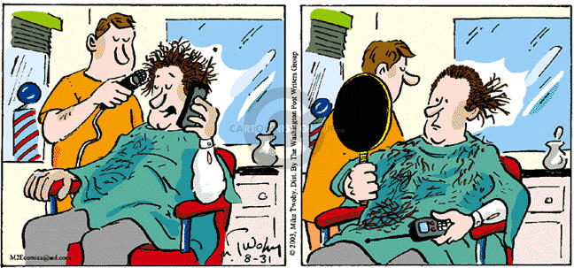 Cartoonist Mike Twohy  That's Life 2003-08-31 telephone