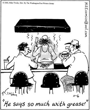 Comic Strip Mike Twohy  That's Life 2003-11-06 hamburger