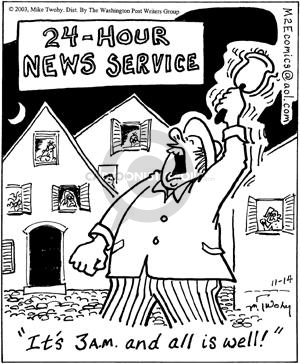 Comic Strip Mike Twohy  That's Life 2003-11-14 24-hour news