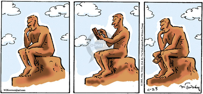 Cartoonist Mike Twohy  That's Life 2003-11-23 wireless communication