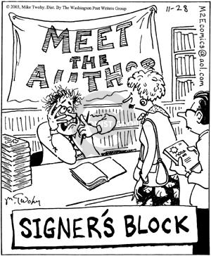Cartoonist Mike Twohy  That's Life 2003-11-28 bookshop