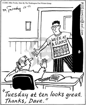 Cartoonist Mike Twohy  That's Life 2003-12-11 calendar