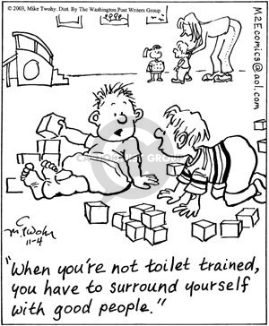Cartoonist Mike Twohy  That's Life 2003-11-04 childhood development