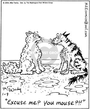 Comic Strip Mike Twohy  That's Life 2004-01-09 stray cat